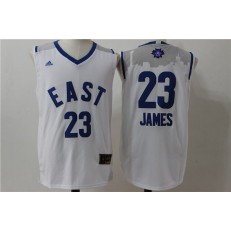 Cleveland Cavaliers #23 LeBron James White 2016 NBA All Star Jersey