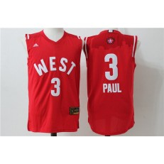 Los Angeles Clippers #3 Chris Paul Red 2016 NBA All Star Jersey