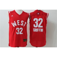 Los Angeles Clippers #32 Blake Griffin Red 2016 NBA All Star Jersey