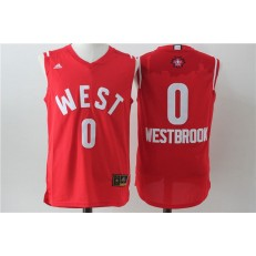 Oklahoma City Thunder #0 Russell Westbrook Red 2016 NBA All Star Jersey