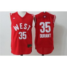 Oklahoma City Thunder #35 Kevin Durant Red 2016 NBA All Star Jersey