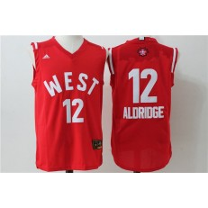 San Antonio Spurs #12 LaMarcus Aldridge Red 2016 NBA All Star Jersey