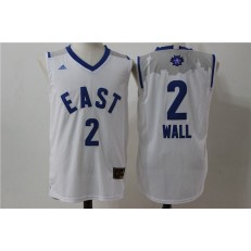 Washington Wizards #2 John Wall White 2016 NBA All Star Jersey