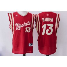 Houston Rockets 13 James Harden Red 2015 Christmas Edition Stitched NBA Jersey