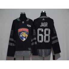 Adidas Florida Panthers #68 Jaromir Jagr Black 1917-2017 100th Anniversary Stitched NHL Jersey
