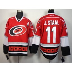 Carolina Hurricanes #11 Jordan Staal Red Third Hockey Stitched NHL Jersey