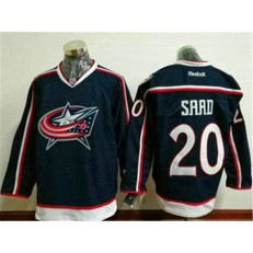 Columbus Blue Jackets #20 Brandon Saad Navy Blue Home Stitched NHL Reebok Hockey Jersey
