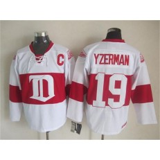 Detroit Red Wings #19 Steve Yzerman White Winter Classic CCM Throwback Stitched NHL Jersey