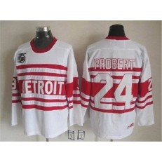 Detroit Red Wings #24 Bob Probert White CCM Throwback 75TH Stitched NHL Jersey