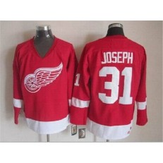 Detroit Red Wings #31 Curtis Joseph Red CCM Throwback Stitched NHL Jersey