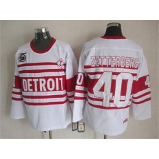 Detroit Red Wings #40 Henrik Zetterberg White 75TH CCM Stitched NHL Jersey