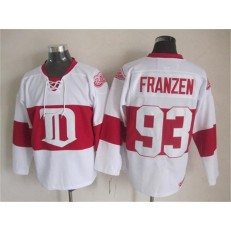 Detroit Red Wings #93 Johan Franzen White Winter Classic CCM Throwback Stitched NHL Jersey