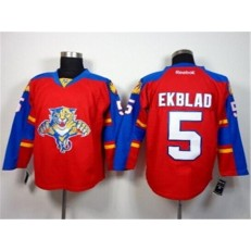 Florida Panthers #5 Aaron Ekblad Red Home Stitched NHL Jersey
