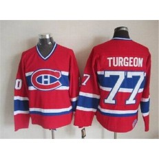 Montreal Canadiens 77 Pierre Turgeon Red CCM Throwback Stitched NHL Jersey