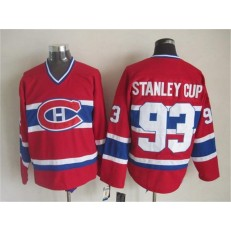 Montreal Canadiens 93 Stanley Cup Red CCM Throwback Stitched NHL Jersey