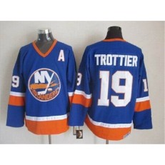 New York Islanders 19 Bryan Trottier Baby Blue CCM Throwback Stitched NHL Jersey