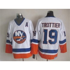 New York Islanders 19 Bryan Trottier White CCM Throwback Stitched NHL Jersey