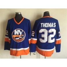 New York Islanders 32 Thomas Baby Blue CCM Throwback Stitched NHL Jersey