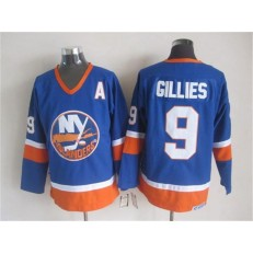 New York Islanders 9 Clark Gillies Baby Blue CCM Throwback Stitched NHL Jersey