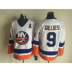 New York Islanders 9 Clark Gillies White CCM Throwback Stitched NHL Jersey