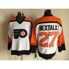 Philadelphia Flyers #27 Ron Hextall White Black CCM Throwback Stitched NHL Jersey