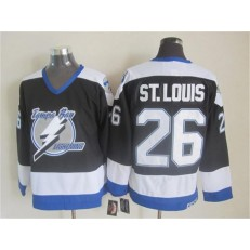 Tampa Bay Lightning #26 Martin St. Louis Black CCM Throwback Stitched NHL Jersey