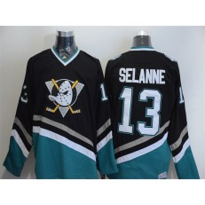 Anaheim Ducks #13 Teemu Selanne Black CCM Throwback Stitched NHL Jersey