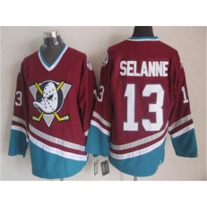 Anaheim Ducks #13 Teemu Selanne Red CCM Throwback Stitched NHL Jersey