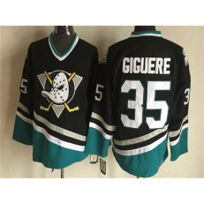 Anaheim Ducks #35 Jean-Sebastien Giguere Black CCM Throwback Stitched NHL Jersey