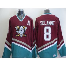 Anaheim Ducks #8 Teemu Selanne Red CCM Throwback Stitched NHL Jersey