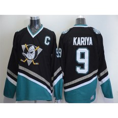 Anaheim Ducks #9 Paul Kariya Black CCM Throwback Stitched NHL Jersey