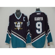 Anaheim Ducks #9 Paul Kariya Purple Turquoise CCM Throwback Stitched NHL Jersey