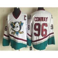 Anaheim Ducks #96 Conway White CCM Throwback Stitched NHL Jersey