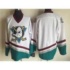 Anaheim Ducks Blank White CCM Throwback Stitched NHL Jersey