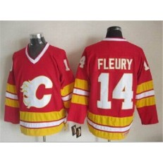 Calgary Flames #14 Theoren Fleury Red CCM Throwback Stitched NHL Jersey