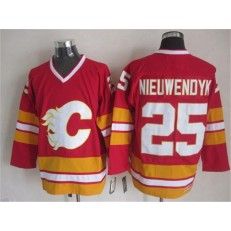 Calgary Flames #25 Joe Nieuwendyk Red CCM Throwback Stitched NHL Jersey