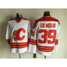 Calgary Flames #39 Doug Gilmour White CCM Throwback Stitched NHL Jersey