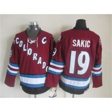 Colorado Avalanche #19 Joe Sakic Red CCM Throwback Stitched NHL Jersey