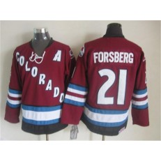 Colorado Avalanche #21 Peter Forsberg Red CCM Throwback Stitched NHL Jersey
