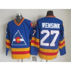 Colorado Avalanche #27 John Wensink Blue CCM Throwback Stitched NHL Jersey