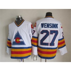 Colorado Avalanche #27 John Wensink White CCM Throwback Stitched NHL Jersey