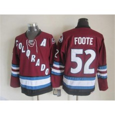 Colorado Avalanche #52 Adam Foote Red CCM Throwback Stitched NHL Jersey