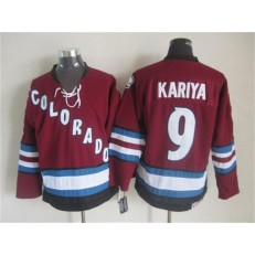 Colorado Avalanche #9 Paul Kariya Red CCM Throwback Stitched NHL Jersey