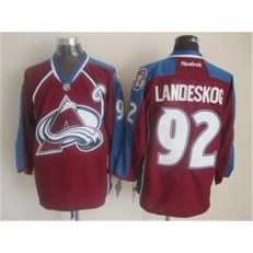 Colorado Avalanche #92 Gabriel Landeskog Red Home Stitched NHL Jersey