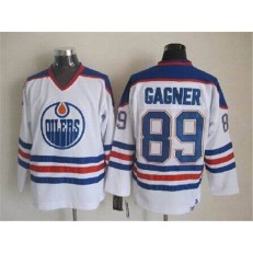 Edmonton Oilers #89 Grant Fuhr White CCM Throwback Stitched NHL Jersey