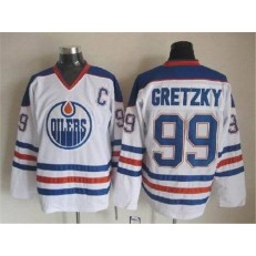 Edmonton Oilers #99 Wayne Gretzky Stitched White CCM Throwback NHL Jersey