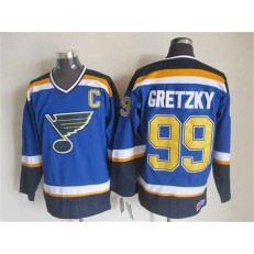 St. Louis Blues #99 Wayne Gretzky Light Blue CCM Throwback Stitched NHL Jersey