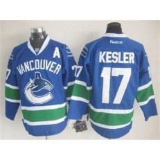 Vancouver Canucks #17 Ryan Kesler Blue Stitched NHL Jersey