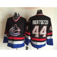 Vancouver Canucks #44 Todd Bertuzzi Black Blue CCM Throwback Stitched NHL Jersey