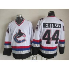 Vancouver Canucks #44 Todd Bertuzzi White Black CCM Throwback Stitched NHL Jersey